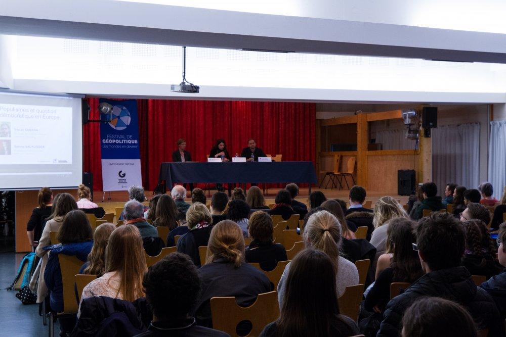 Cité scolaire internationale Europole_Conférence Festival de géopolitique grenoble 2019
